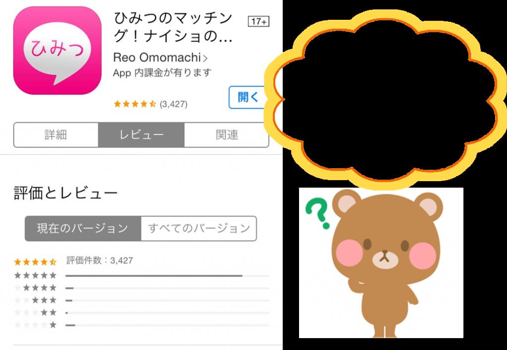 ひみつのマッチングアプリの評判