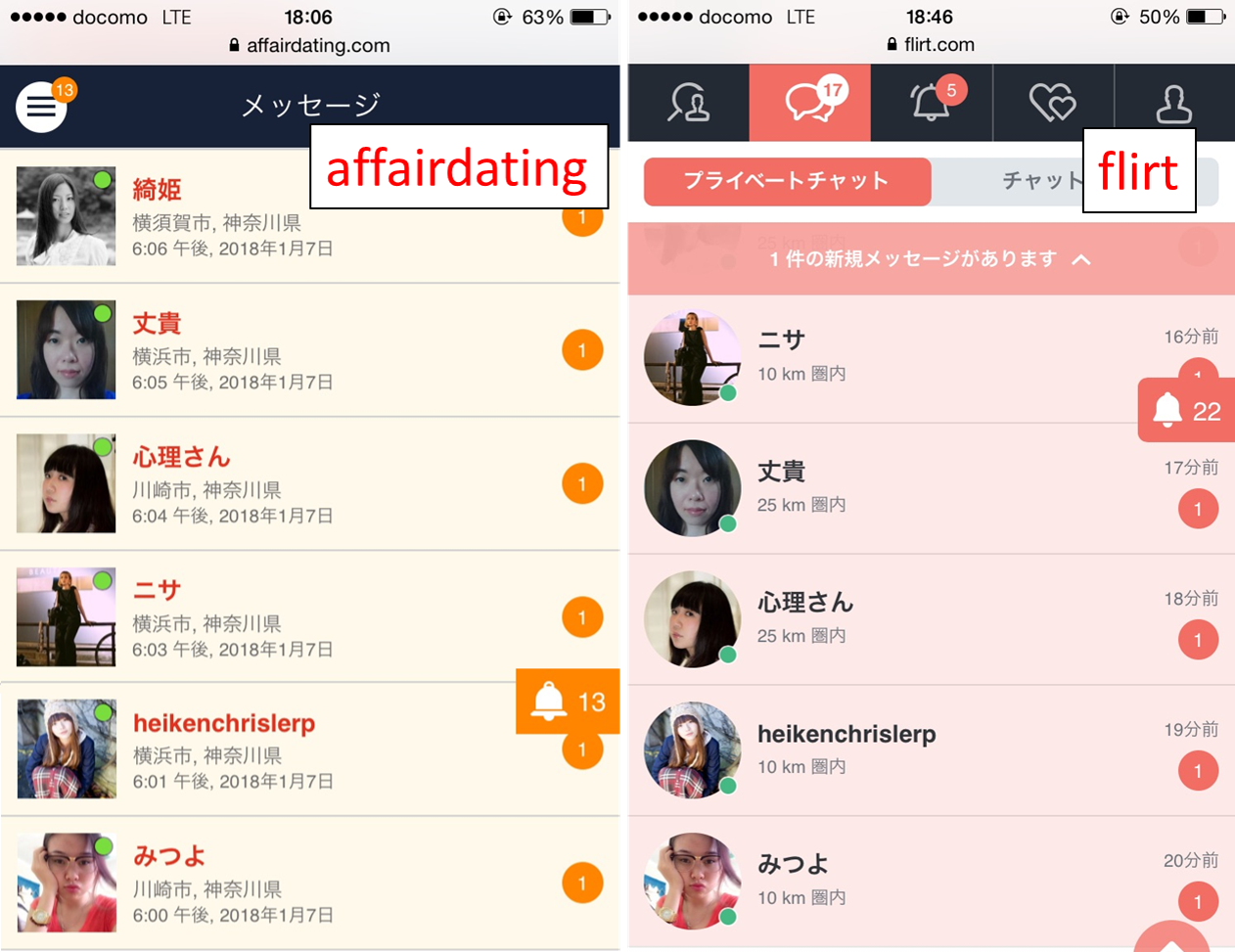 affairdatingの利用者