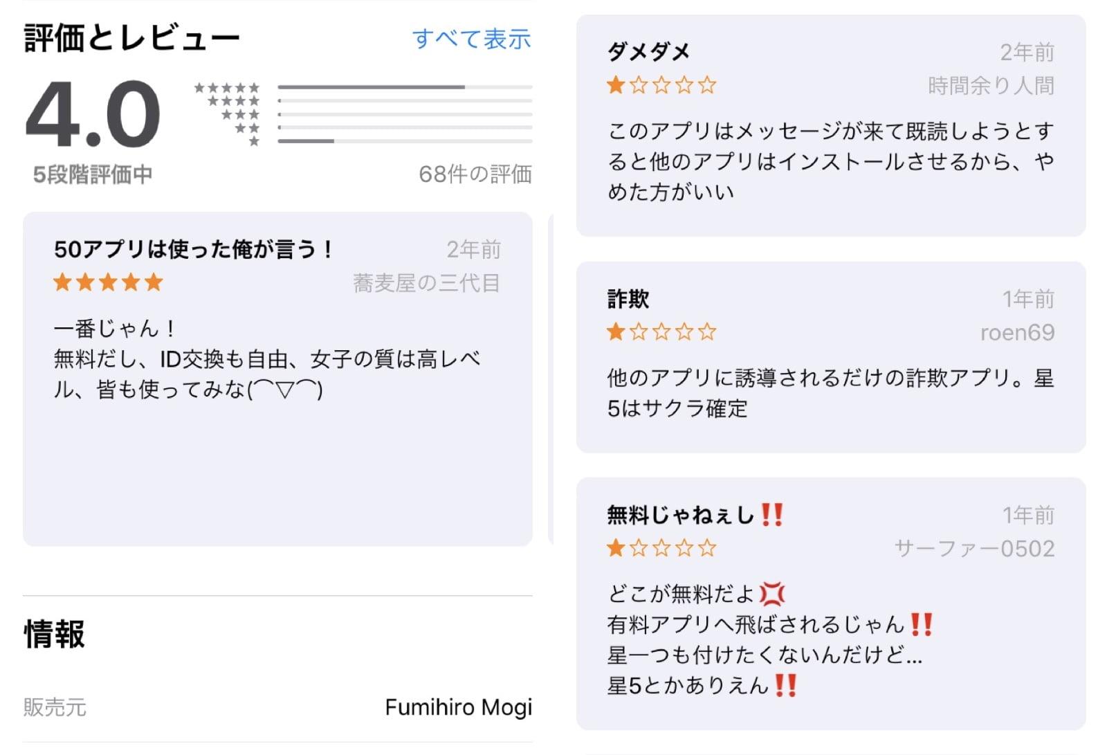 ギガ出会いの口コミ評価とレビュー詳細