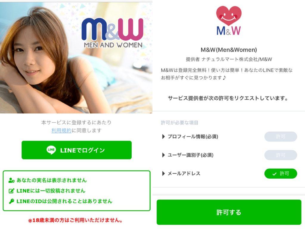 M&Wの登録方法